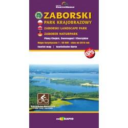 LAMINOWANA MAPA Zaborski Park Krajobrazowy oraz Park Narodowy Bory Tucholskie