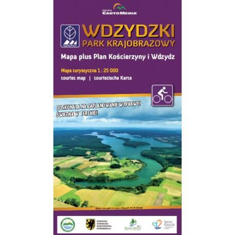 Wdzydzki Park Krajobrazowy - mapa plus plan Kościerzyny