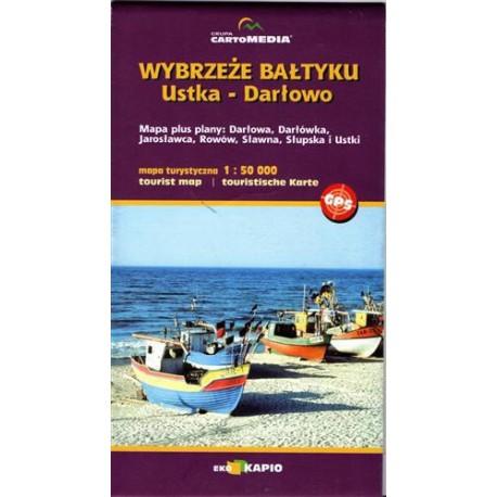Wybrzeże Bałtyku - Ustka - Darłowo - mapa plus plany sześciu miejscowości