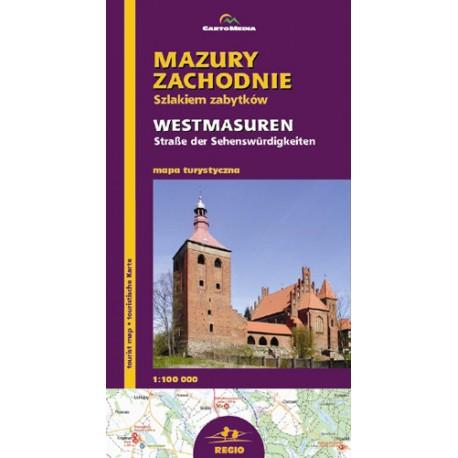 Mazury Zachodnie - mapa zabytków